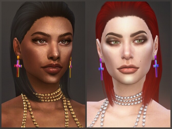 Sims 4 Doomsday earrings by sugar owl at TSR