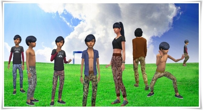 Sims 4 Family Camouflage Pants at Birksches Sims Blog