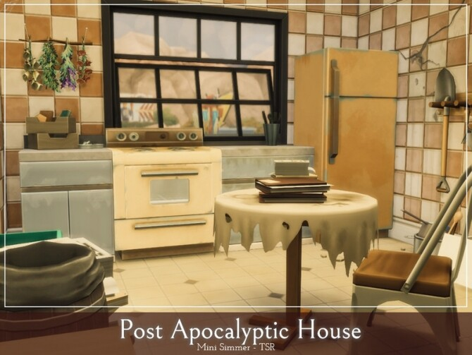 Post Apocalyptic House by Mini Simmer at TSR image 485 670x503 Sims 4 Updates
