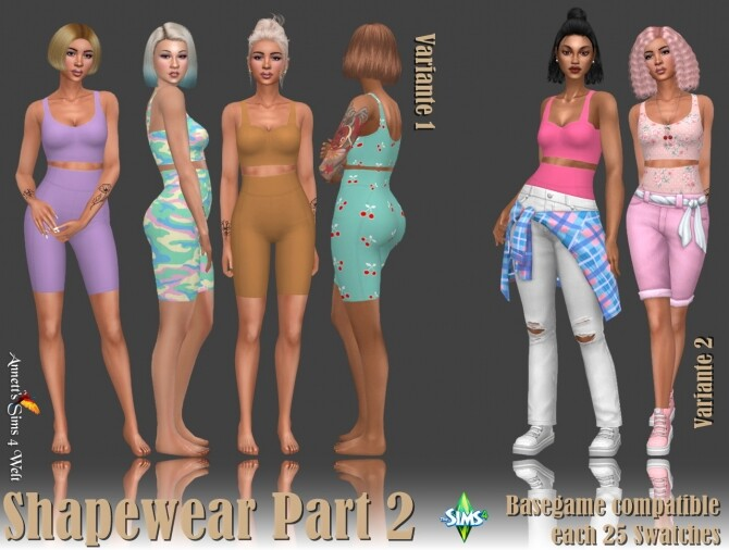 Sims 4 Shapewear Part 2 at Annett's Sims 4 Welt