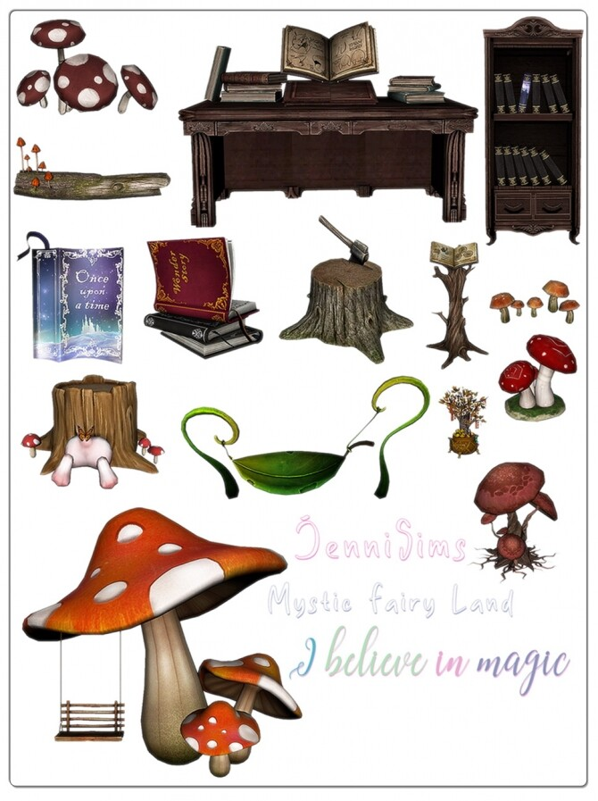 Mystic Fairy Land clutter (15 ITEMS) at Jenni Sims image 4951 670x897 Sims 4 Updates