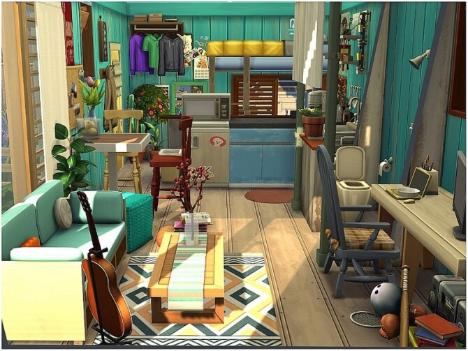 TINY 33 micro house with a front yard by lotsbymanal at TSR image 5011 670x503 Sims 4 Updates