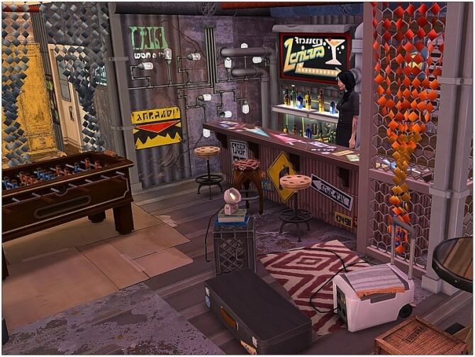 Sims 4 Last Station Bar by lotsbymanal at TSR