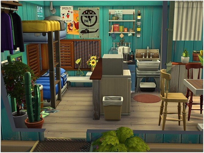 TINY 33 micro house with a front yard by lotsbymanal at TSR image 5115 670x503 Sims 4 Updates