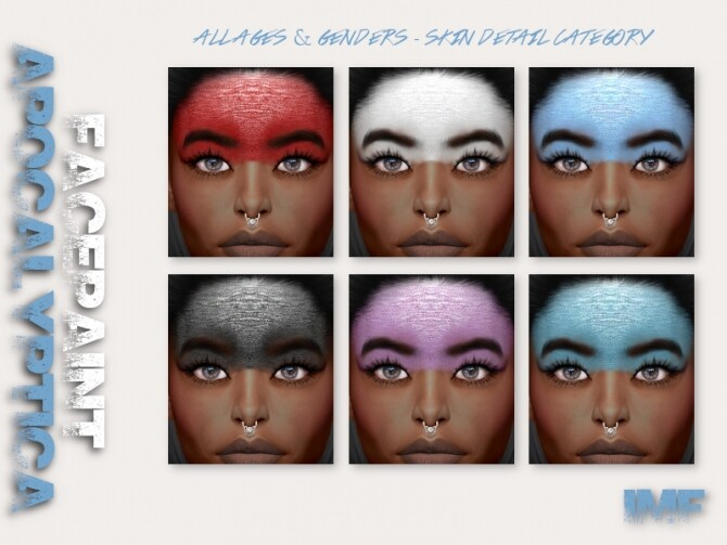 IMF Apocalyptica Facepaint by IzzieMcFire at TSR image 523 670x503 Sims 4 Updates