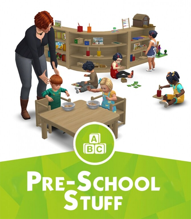 Sims 4 Pre School Stuff: Activities for toddlers at Around the Sims 4