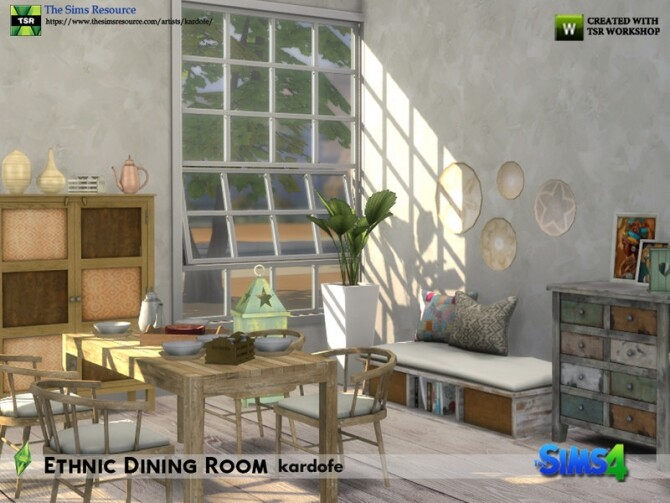 Ethnic Dining Room by kardofe at TSR image 5315 670x503 Sims 4 Updates