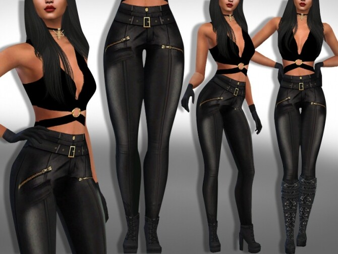 Female Dark Leather Pants by Saliwa at TSR image 533 670x503 Sims 4 Updates