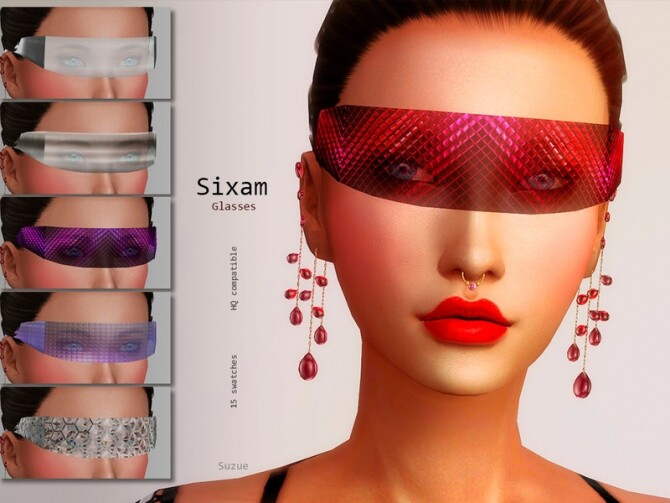 Sims 4 Sixam Glasses Apocalypse by Suzue at TSR