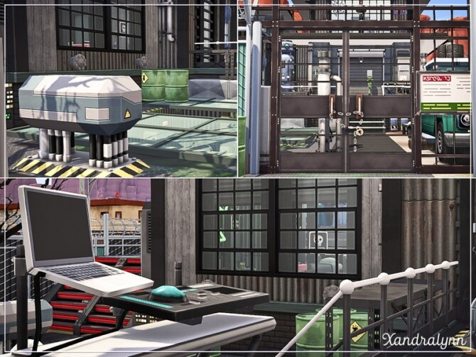 Sims 4 Biohazard post apocalyptic style residence by Xandralynn at TSR