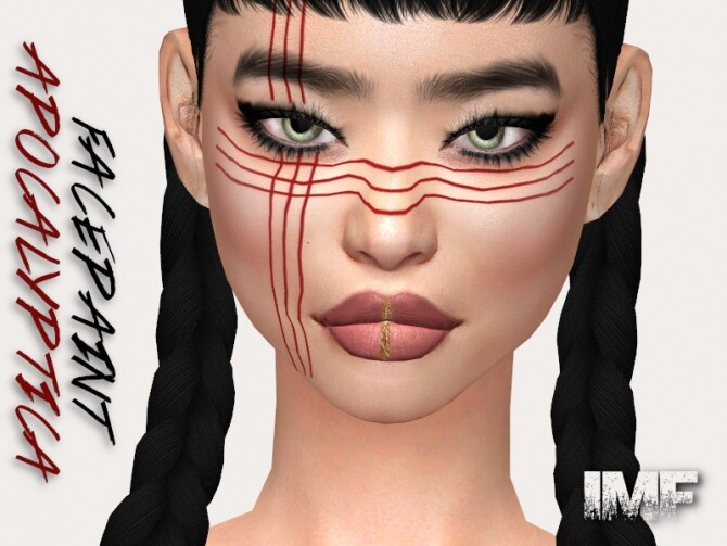 Sims 4 IMF Apocalyptica Facepaint N.02 by IzzieMcFire at TSR