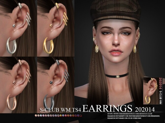 EARRINGS 202014 by S Club WM at TSR image 559 670x503 Sims 4 Updates