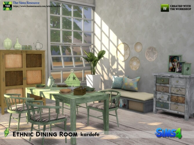 Ethnic Dining Room by kardofe at TSR image 5614 670x503 Sims 4 Updates