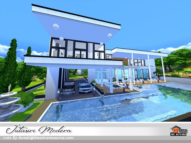 Sims 4 Jutasiri Modern House NoCC by autaki at TSR