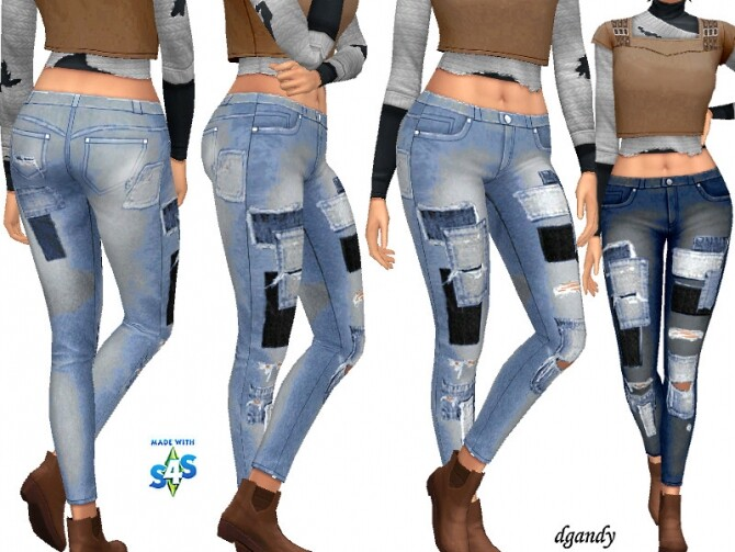 Sims 4 Apocalypse Jeans 20200503 by dgandy at TSR
