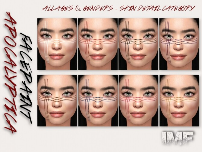 IMF Apocalyptica Facepaint N.02 by IzzieMcFire at TSR image 565 670x503 Sims 4 Updates