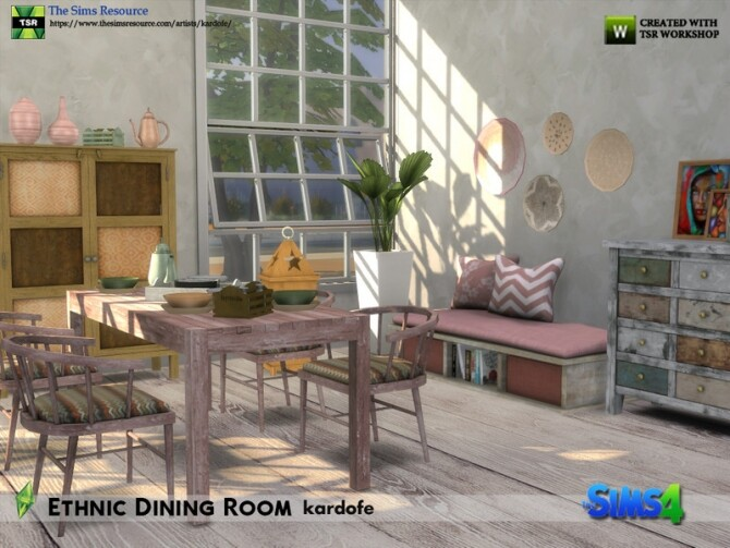 Ethnic Dining Room by kardofe at TSR image 5715 670x503 Sims 4 Updates