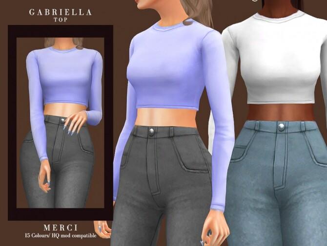 Sims 4 Gabriella Top by Merci at TSR