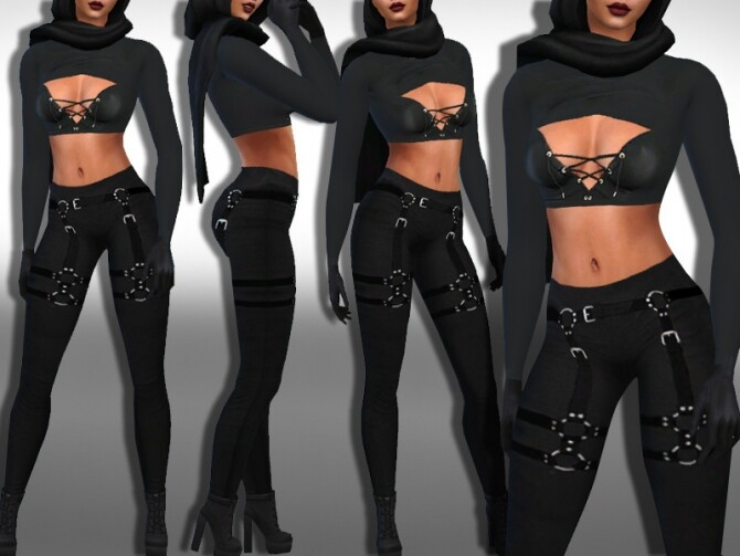 Sims 4 Female Fighter Pants by Saliwa at TSR