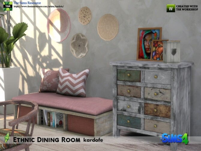Ethnic Dining Room by kardofe at TSR image 5815 670x503 Sims 4 Updates
