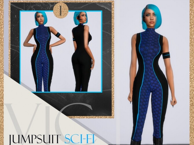 Sims 4 JUMPSUIT APOCALYPSE SCI FI by Viy Sims at TSR