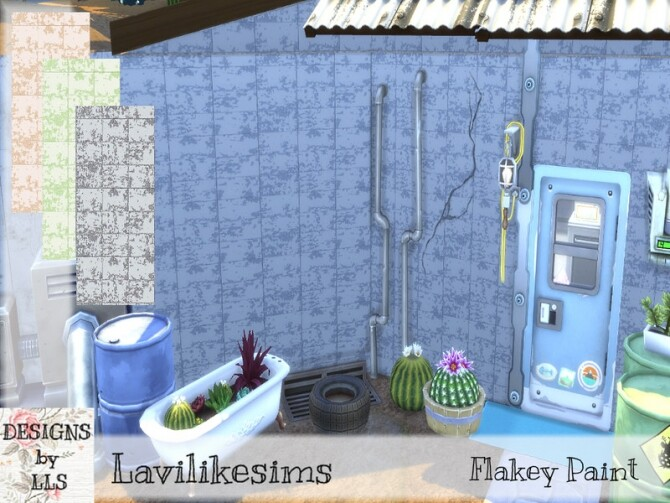 Sims 4 Flakey Paint Tiles by lavilikesims at TSR