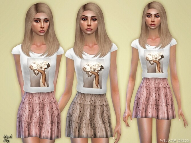 Sims 4 Willow Dress by Black Lily at TSR