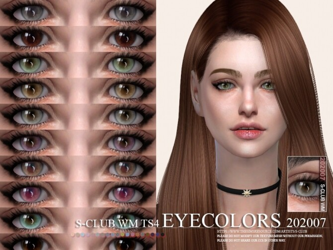 Sims 4 Eyecolors 202007 by S Club WM at TSR