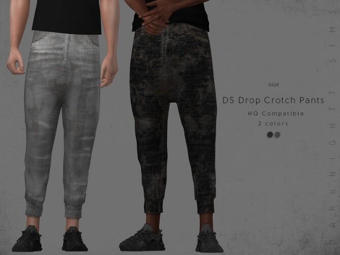 Sims 4 DS Drop Crotch Pants by DarkNighTt at TSR