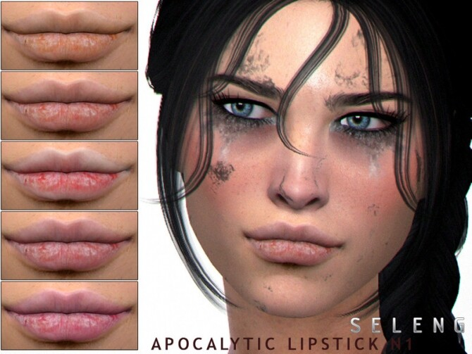 Sims 4 Apocalytic Lipstick N1 by Seleng at TSR