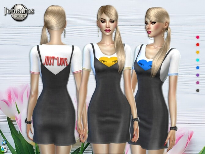 Sims 4 Systel dress by jomsims at TSR