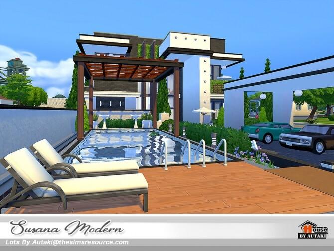 Susana Modern House NoCC by autaki at TSR image 6017 670x503 Sims 4 Updates