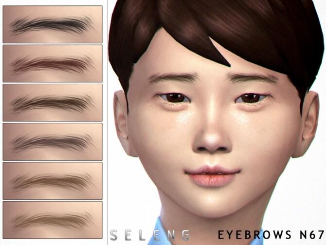 Sims 4 Eyebrows N67 by Seleng at TSR