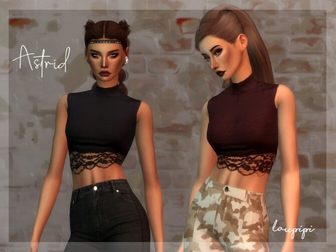 Sims 4 Apocalypse Astrisd Top by laupipi at TSR