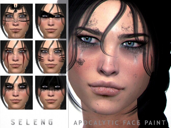Apocalytic Facepaints by Seleng at TSR image 603 670x503 Sims 4 Updates