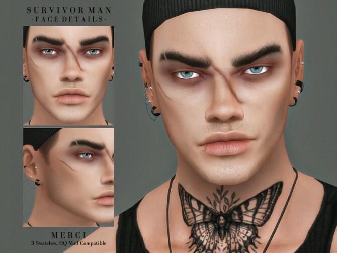 Survivor Man Face Details by Merci at TSR image 613 670x503 Sims 4 Updates