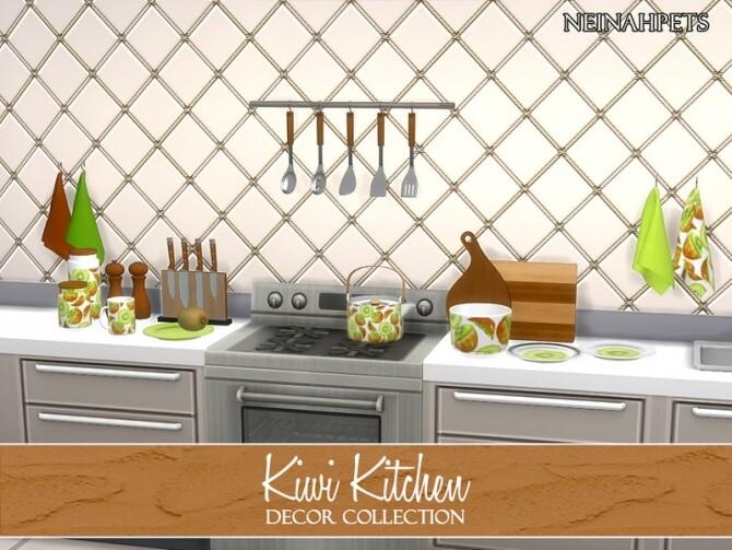 Kiwi Kitchen Decor by neinahpets at TSR image 614 670x503 Sims 4 Updates