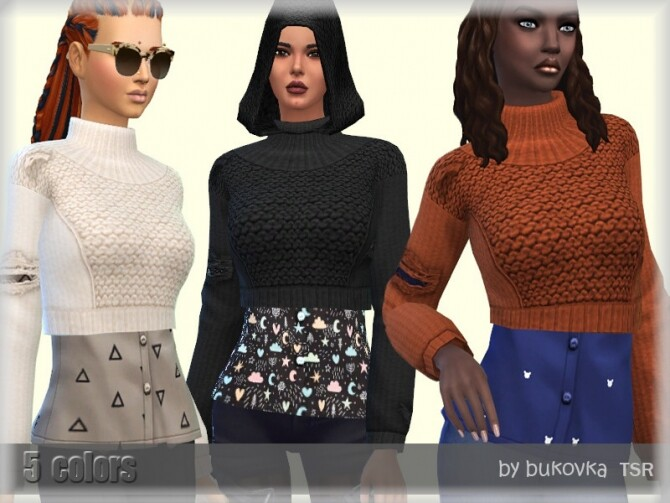 Sweater Apocalypse by bukovka at TSR image 626 670x503 Sims 4 Updates