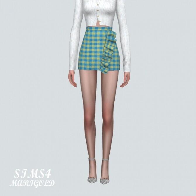 Frill Plaid Mini Skirt at Marigold image 6316 670x670 Sims 4 Updates