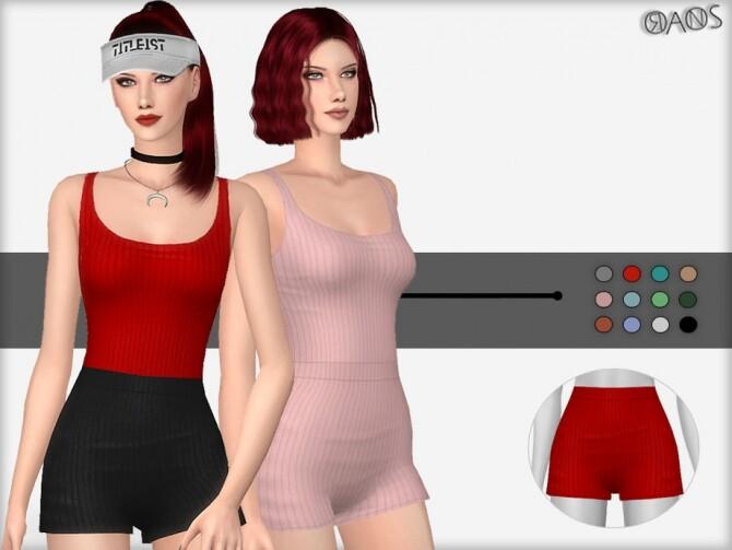 Sims 4 Jumbo Rib Shorts by OranosTR at TSR