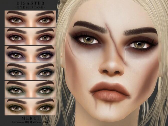 Sims 4 Disaster Eyeshadow by Merci at TSR