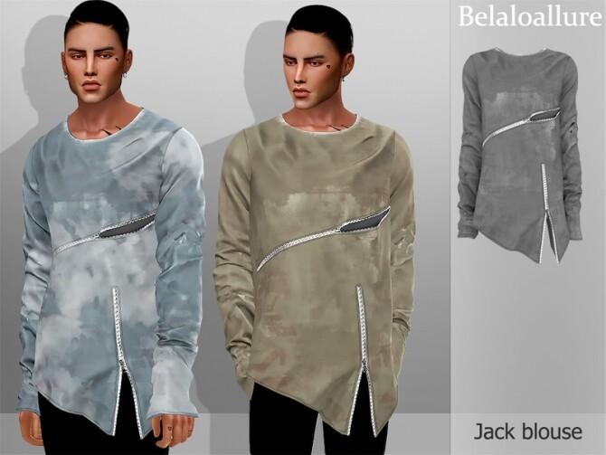 Sims 4 Belaloallure Jack blouse by belal1997 at TSR