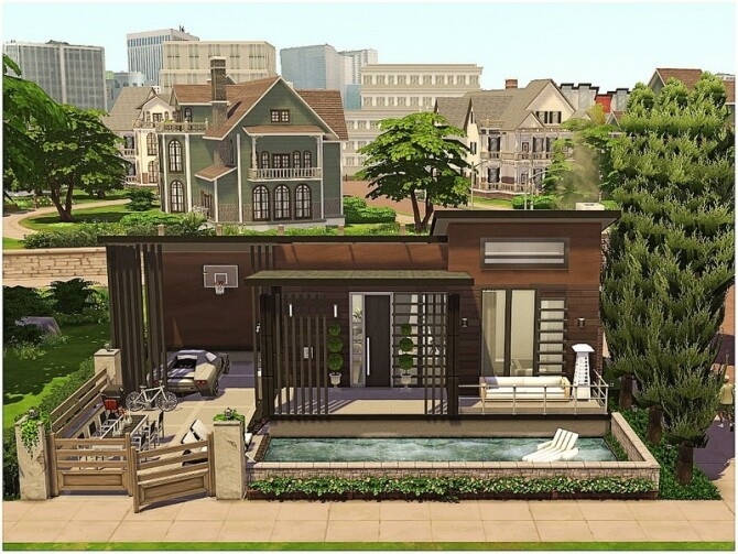 Sims 4 Tiny Celebrity House by lotsbymanal at TSR
