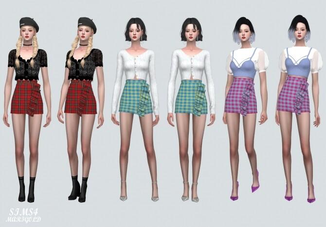 Frill Plaid Mini Skirt at Marigold image 6715 670x467 Sims 4 Updates