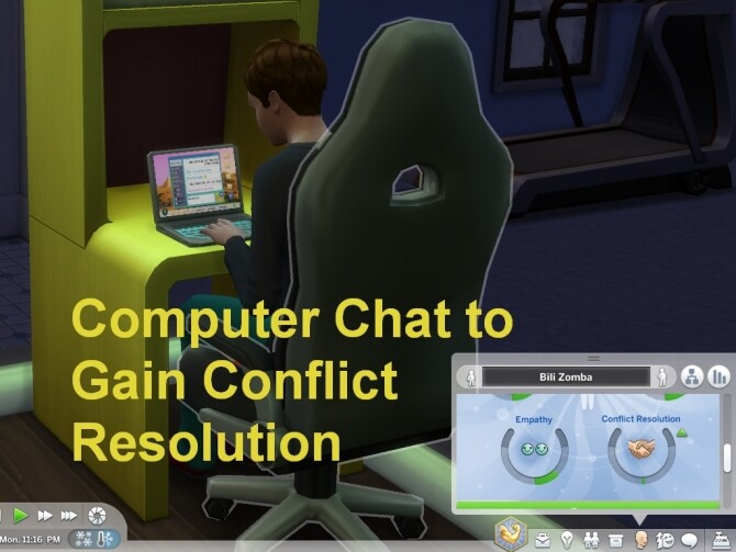 Computer Chat to Gain Conflict Resolution by wertyuio86 at Mod The Sims image 6813 670x503 Sims 4 Updates