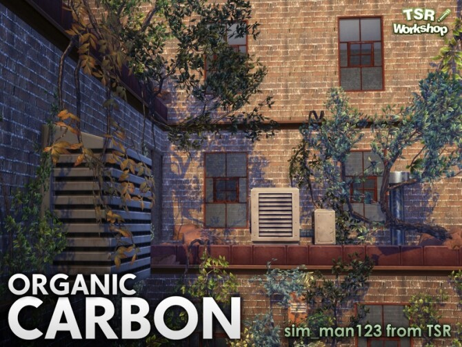 Sims 4 Organic Carbon set of vines, bushes and trees by sim man123 at TSR