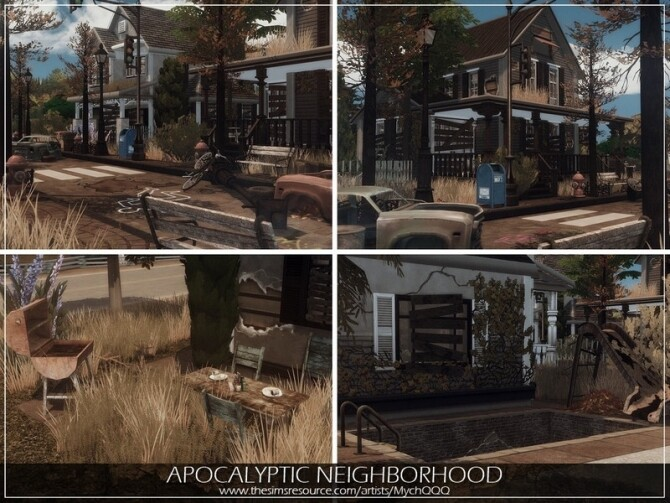Sims 4 Apocalyptic Neighborhood by MychQQQ at TSR