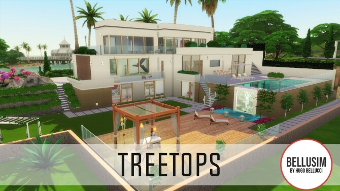 Sims 4 TreeTops Mansion by Bellusim at Mod The Sims