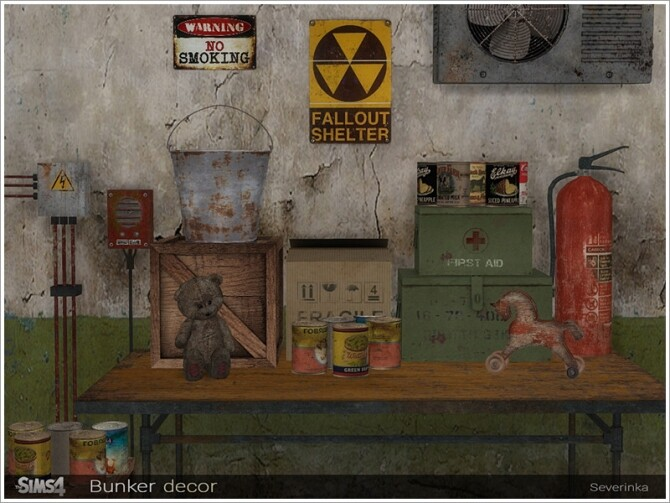 Bunker decor by Severinka at TSR image 697 670x503 Sims 4 Updates