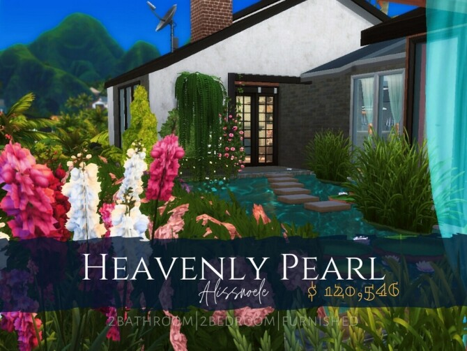Heavenly Pearl home by Alissnoele at TSR image 7103 670x503 Sims 4 Updates